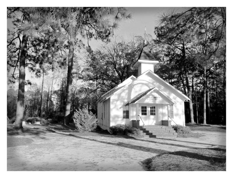 Old Country Wood Church stock image