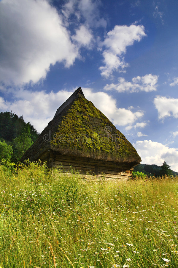 Old Romanian Countryside House Stock Photo