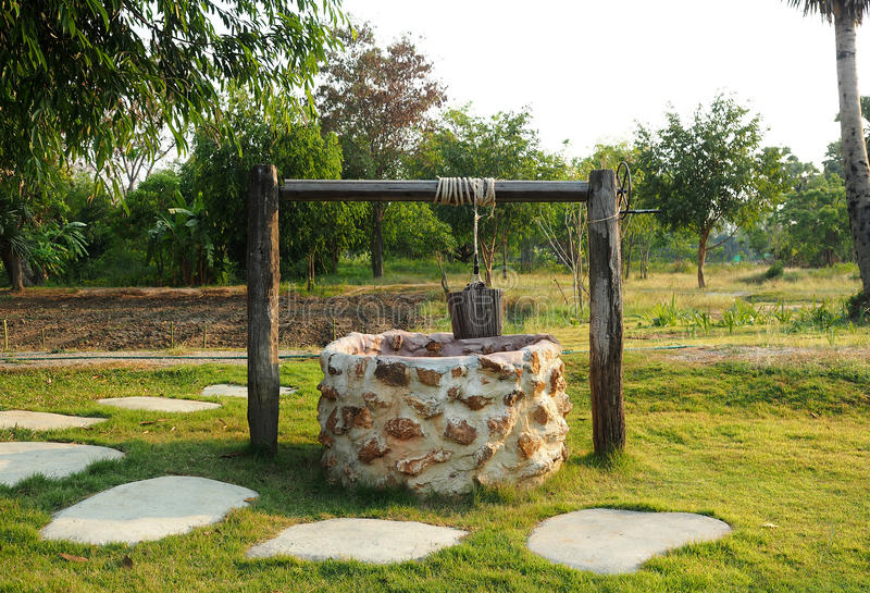 Old countryside water well. royalty free stock images