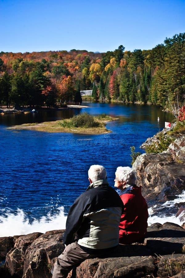 Free Old Couple & Beautiful Fall Stock Image - 16342271