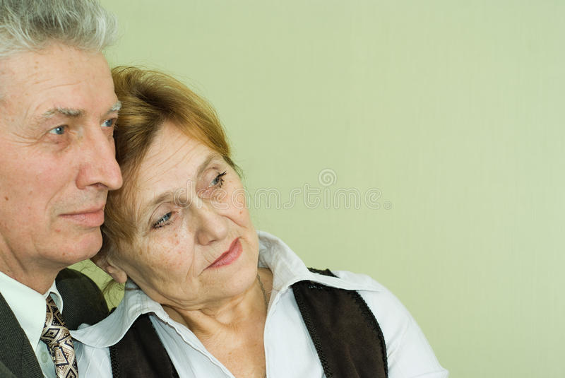 Download Old Couple Standing And Looking Ahead Stock Image - Image: 13031189