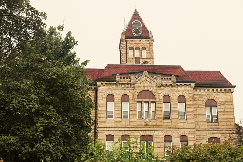 Old courthouse in Carrollton, Greene County. Illinois, United States stock images