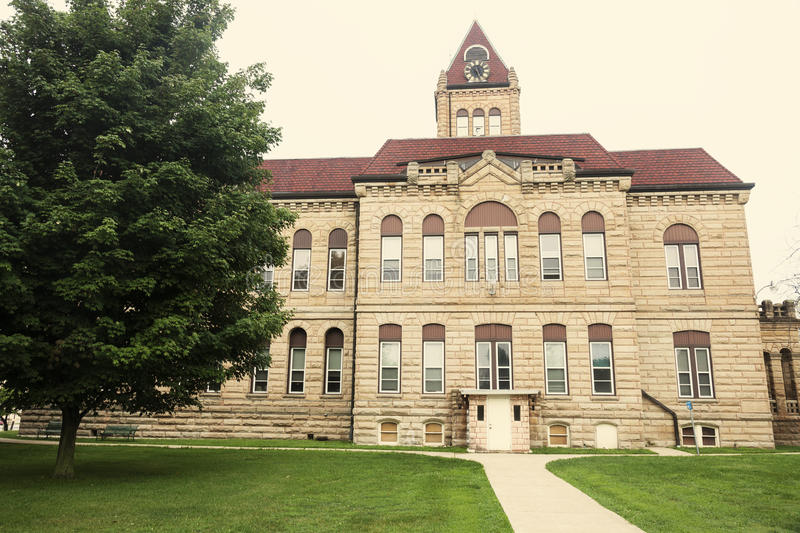 Old courthouse in Carrollton, Greene County. Illinois, United States royalty free stock photo