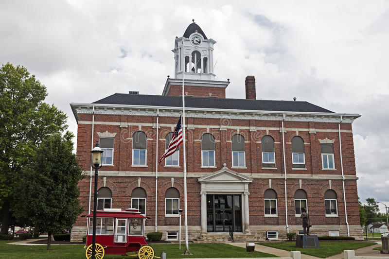 Old courthouse in Marshall, Clark County. Illinois, United States royalty free stock photo