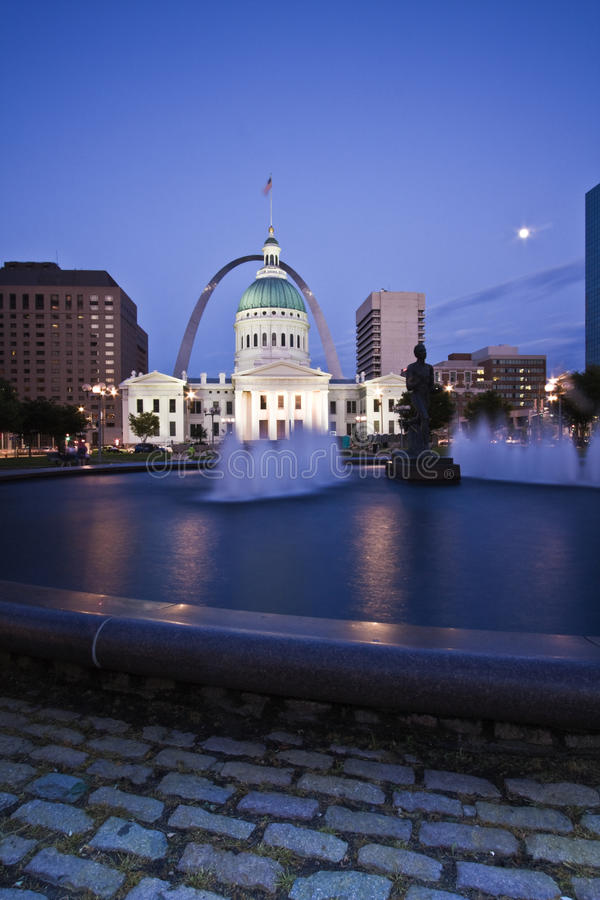 Old Courthouse in St. Louis. Missouri stock photo