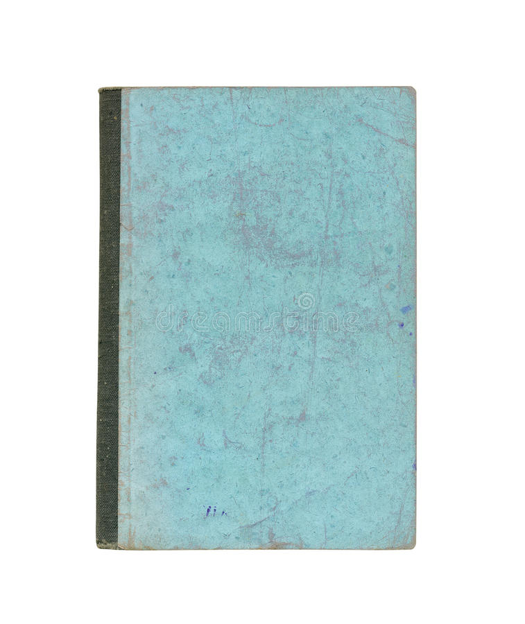 Old cover of book. On a white background stock photo
