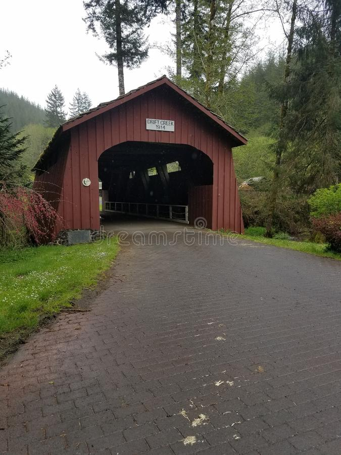 Old covered bridge royalty free stock images