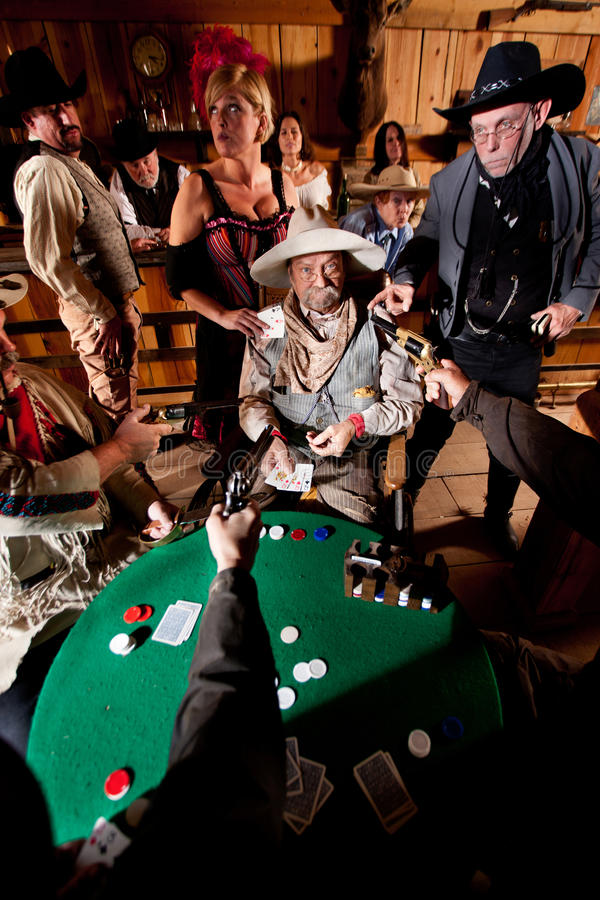 Download Old Cowboy Caught Cheating stock image. Image of cards - 23102333