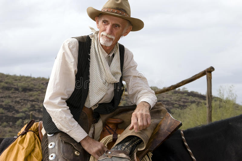 Old Cowhand Western American Cowboy royalty free stock photography
