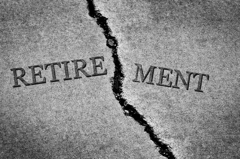 Old Cracked Sidewalk Cement Dangerous Broken Retirement royalty free stock image