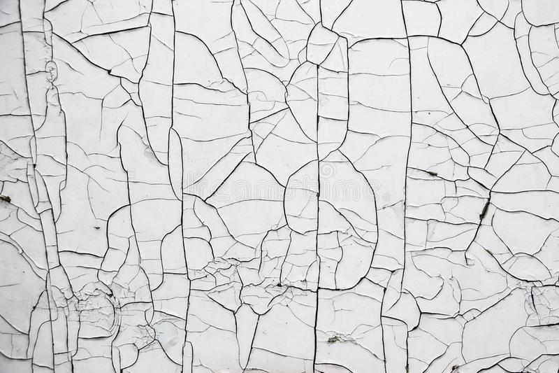 Cracked White Paint stock photos