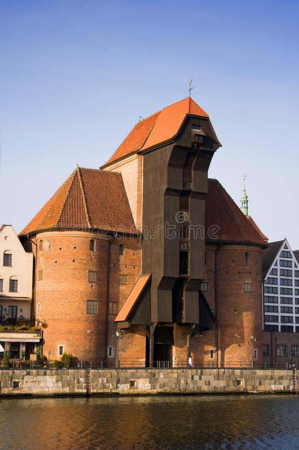 Download The Old Crane In Gdansk, Pomerania, Poland. Stock Image - Image: 12405081