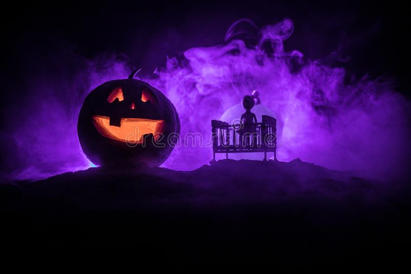 Eerie Glowing Ghost stock image. Image of blue, costume ...