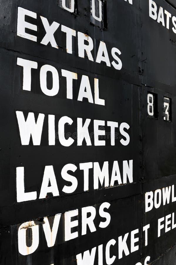 Old Cricket Scoreboard Royalty Free Stock Image
