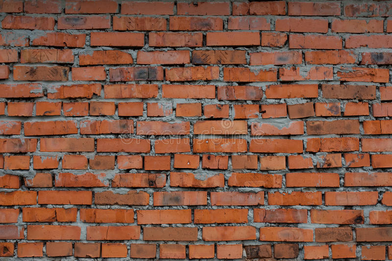 Old crooked brick walls royalty free stock photography