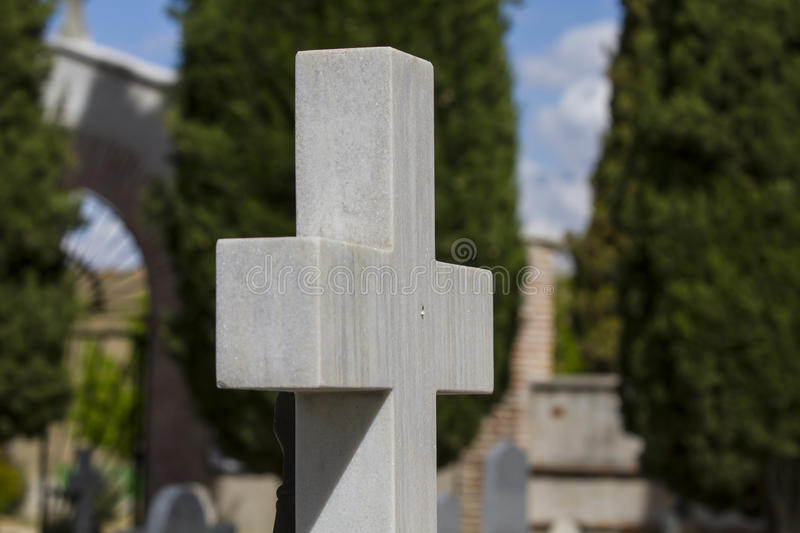 Old Cross In A Cemetery Stock Photo