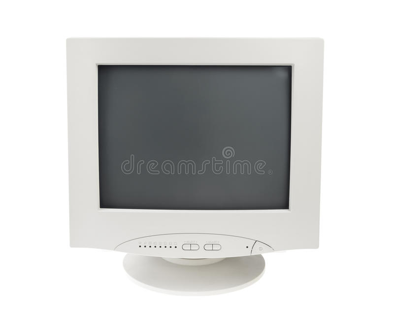 Download Old Crt Monitor Display Isolated White Background Stock Photo - Image: 25263372