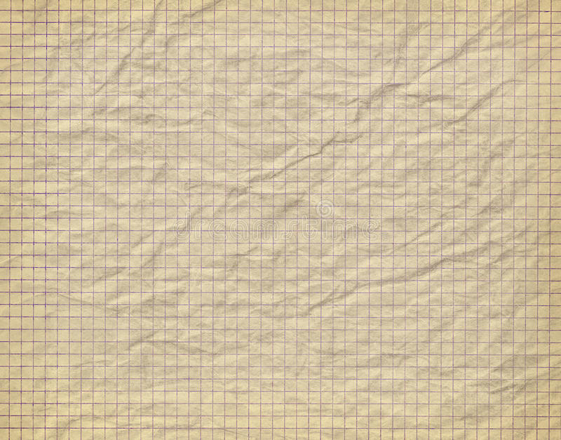 Download Old Crumpled Checkered Paper Stock Photo - Image: 26117738