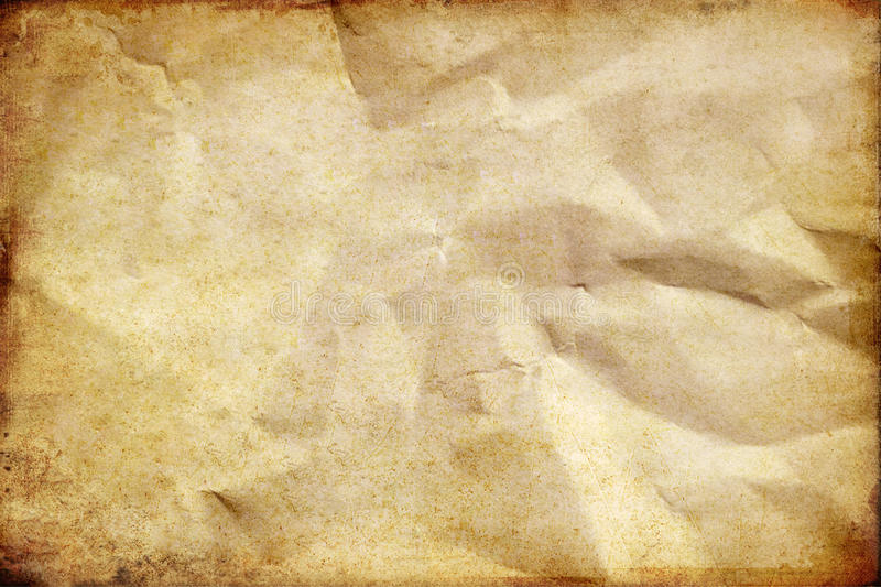 Old Crumpled Paper Background Stock Photo