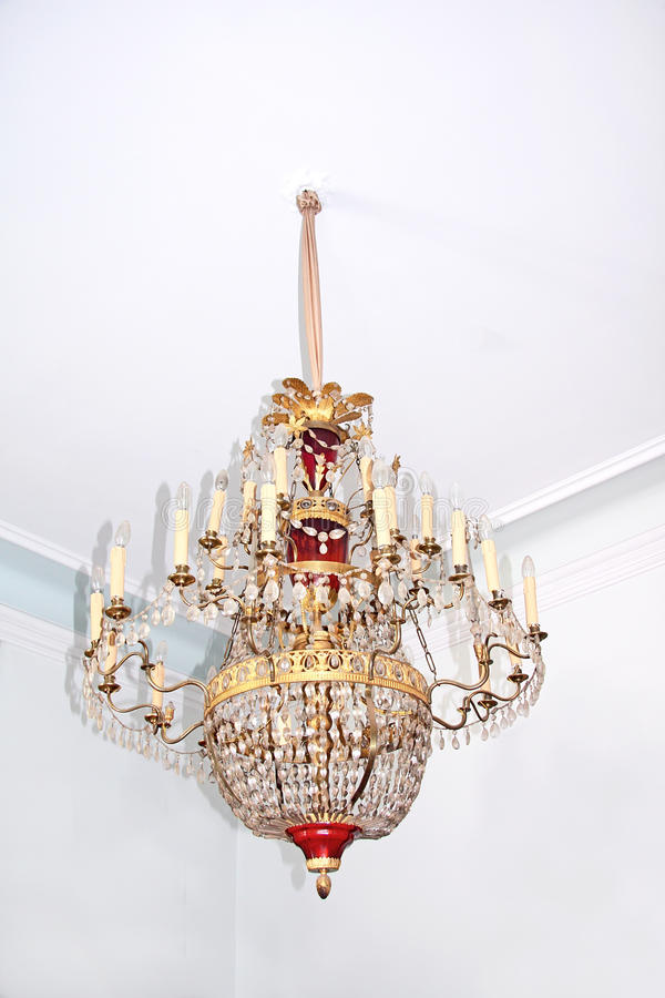 Download Old crystal chandelier. stock image. Image of chandelier - 11453571