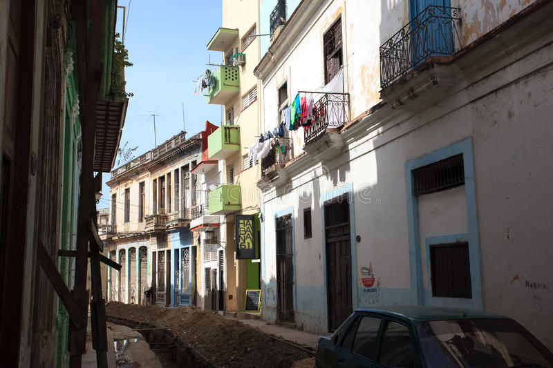 Old cuban building stock photography