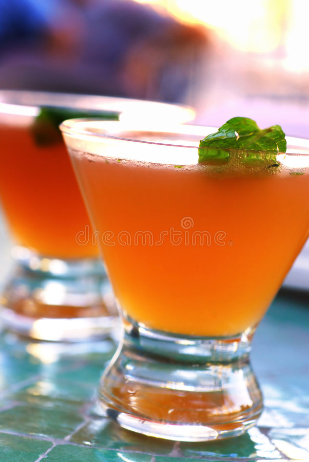 Old Cuban Cocktail stock photo
