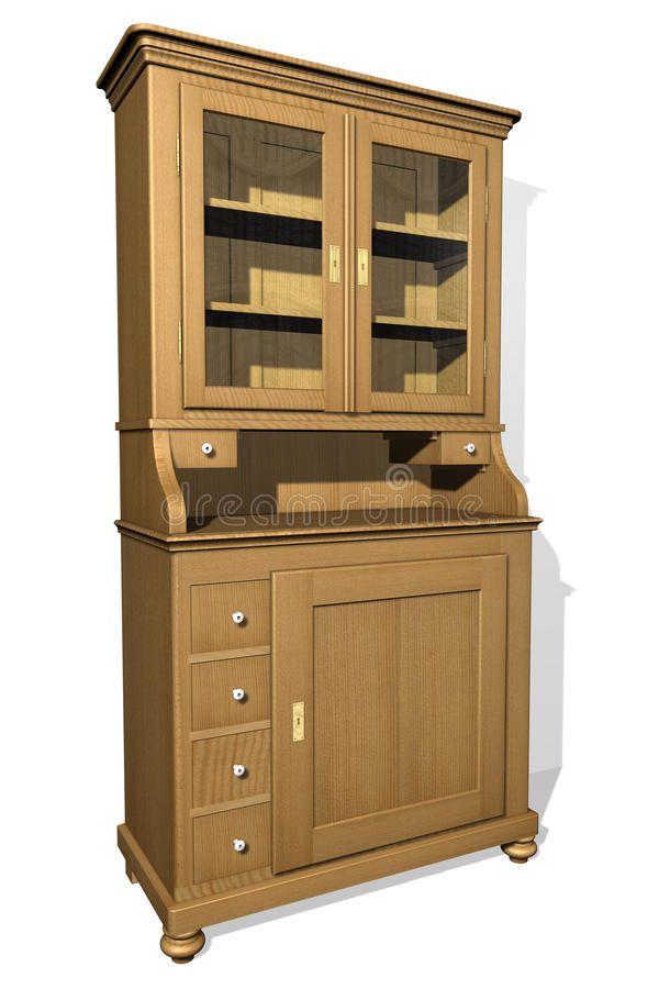 Old cupboard. Drawing of an old cupboard vector illustration