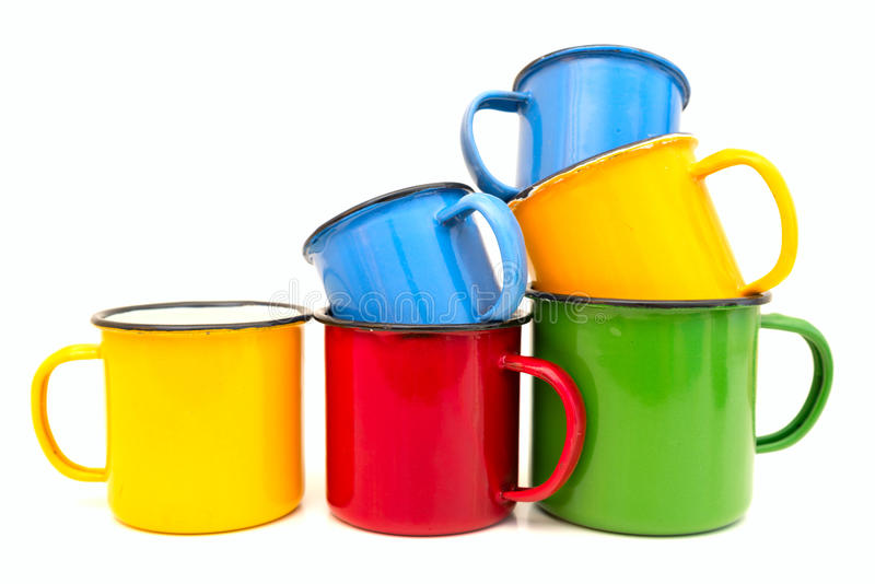 Old cups royalty free stock photos