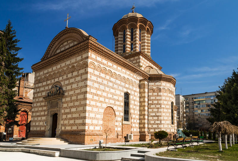 Old Curtea Veche church in Bucharest, Romania stock photo