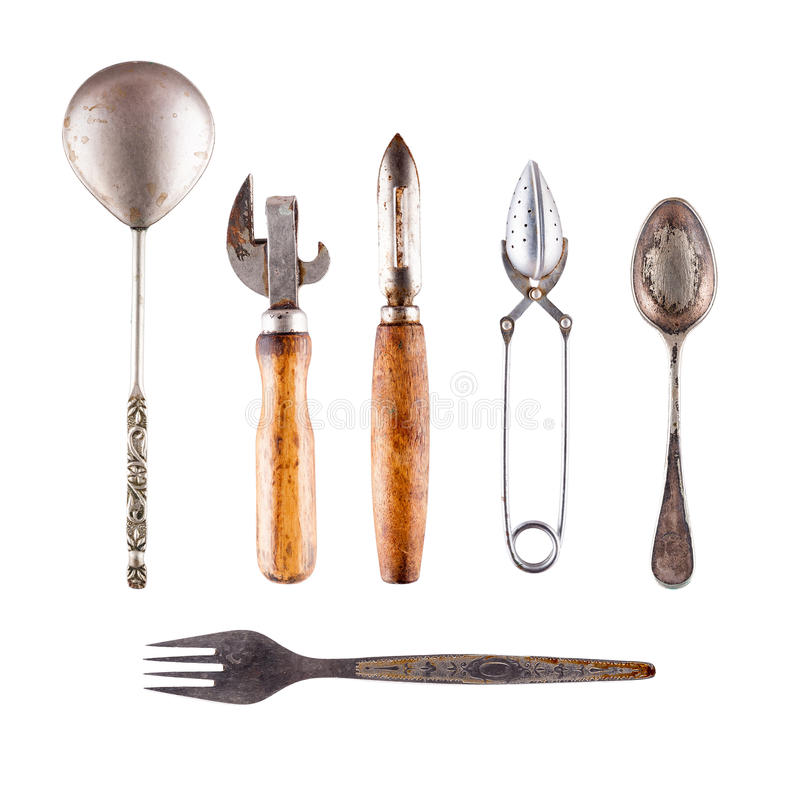 Old cutlery royalty free stock images