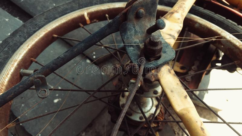 Old Cycle. Tyer click by ritvik royalty free stock photo