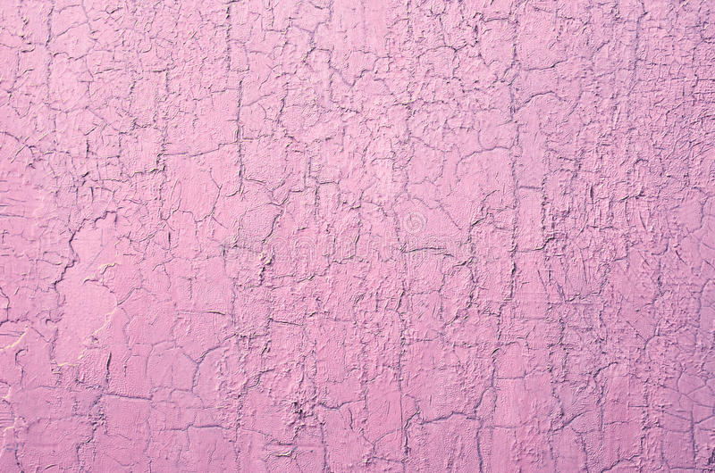 Download Old Damaged Cracked Paint Wall, Grunge Background, Pink Pastel  Color Stock Image