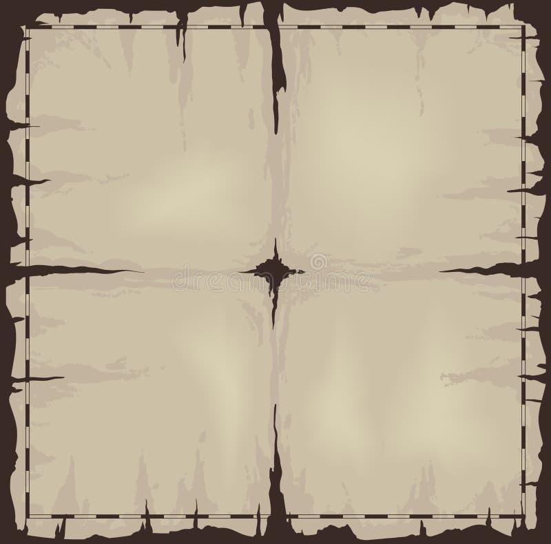 Old damaged sheet of paper