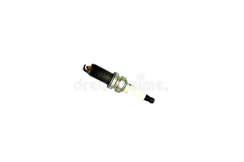Old, Damaged or Used spark plug for car stock photography