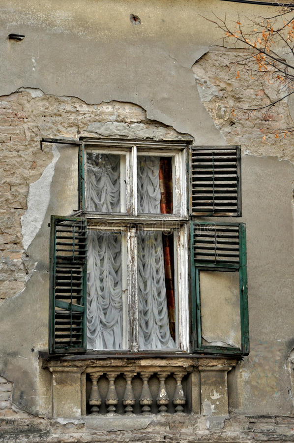Download Old damaged window stock photo. Image of ruins, living - 28081912
