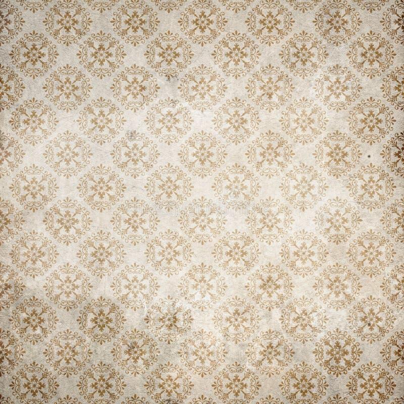 Old damasc wallpaper royalty free stock image