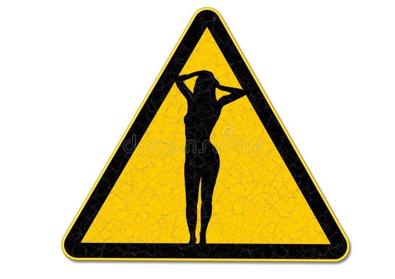 Old danger sign vector illustration
