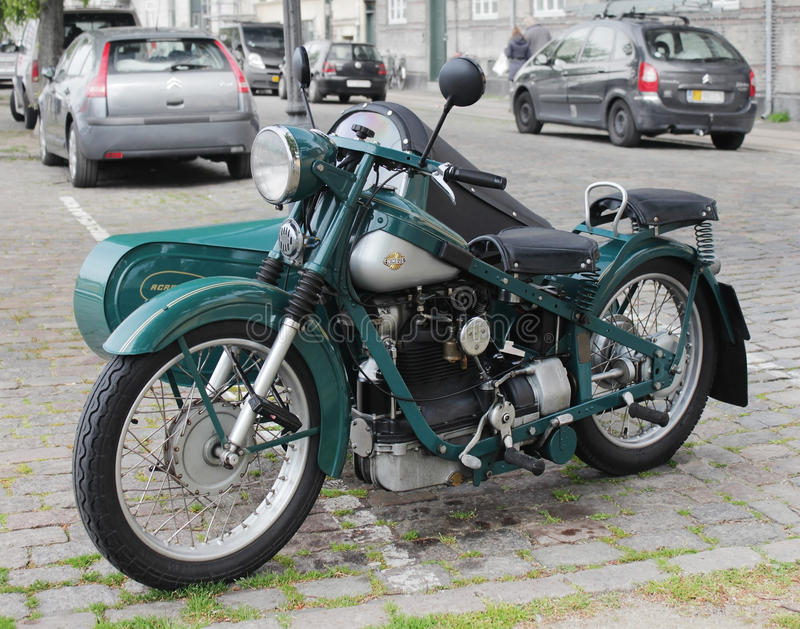 Old Danish Motorcycle royalty free stock image