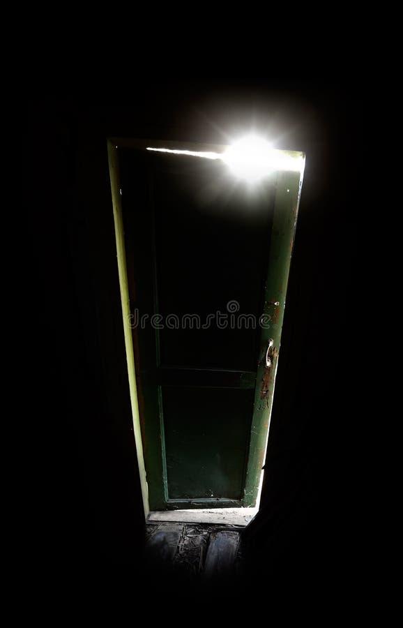 Download Old Dark Room With Shining Closed Door Stock Photo - Image: 25066942