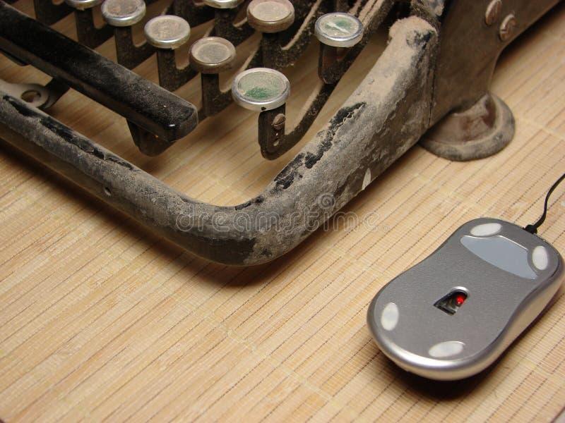 Download Old Dark Typewriter With Modern Mouse Stock Image - Image: 16903319