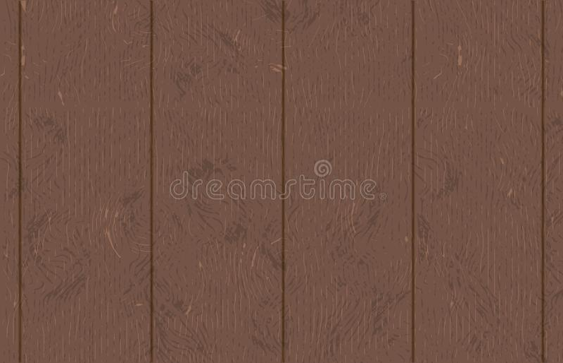 Old dark wooden plywood vector illustration