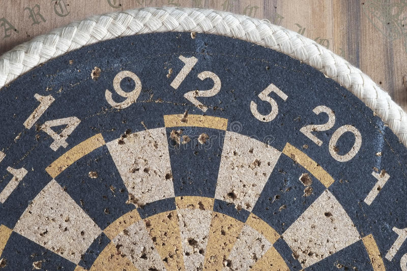 Old dartboard. Part of old dartboard, close up royalty free stock photos