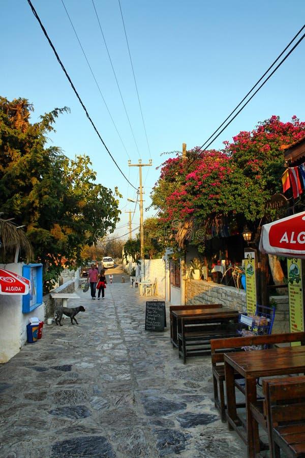 Old Datca. Mugla, Turkey - October 04, 2014; Street in Old Datca, Mugla City, Turkey royalty free stock photo