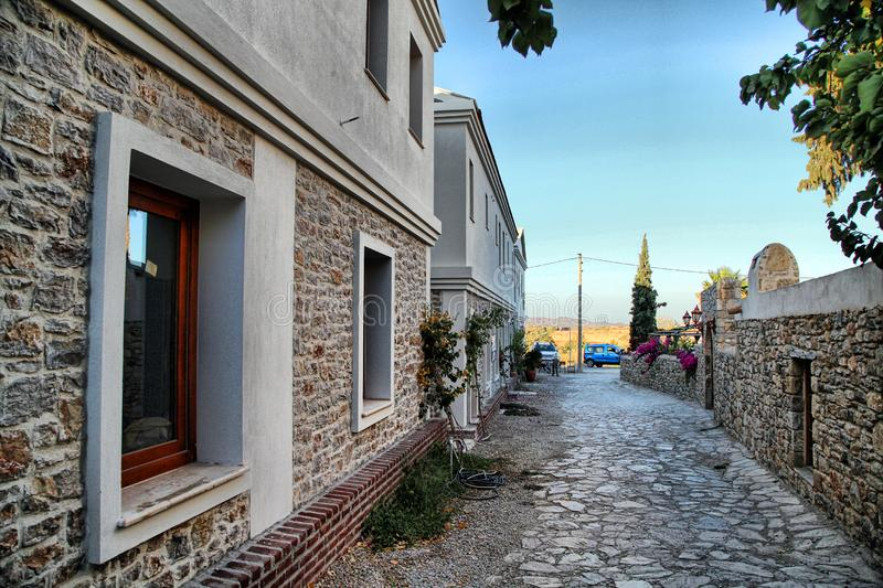 Old Datca. Town in Datca, Mugla royalty free stock image