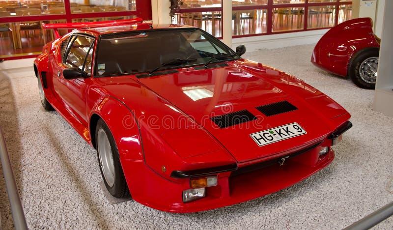 Old De Tomaso Pantera Car - Museum Sinsheim. Old De Tomaso Pantera Car in Simsheim Museum. -Germany royalty free stock photo