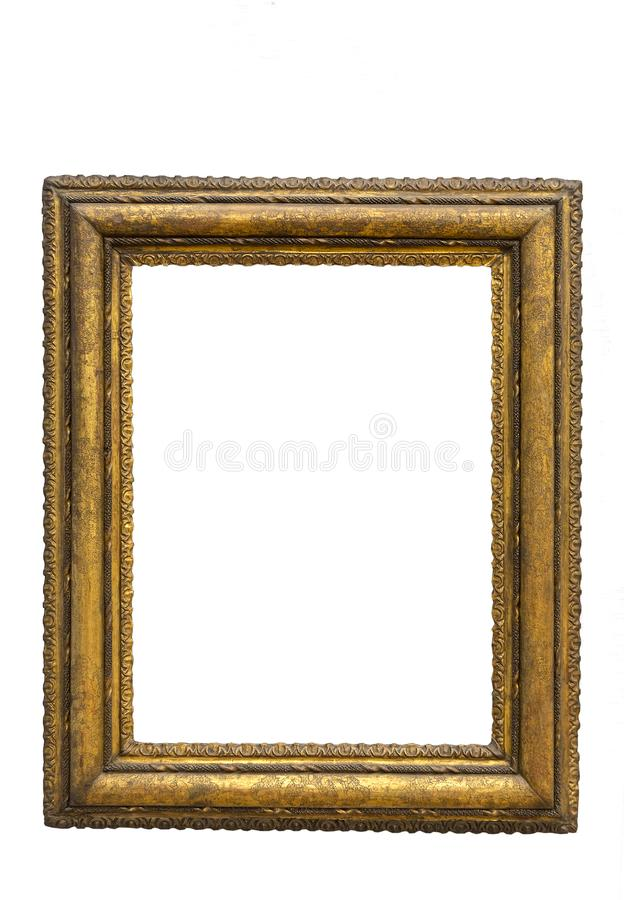 Old decorated frame for painting vector illustration