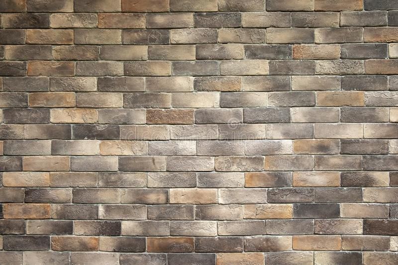 Old Decoration Style Brown Brick Wall Texture Background stock image