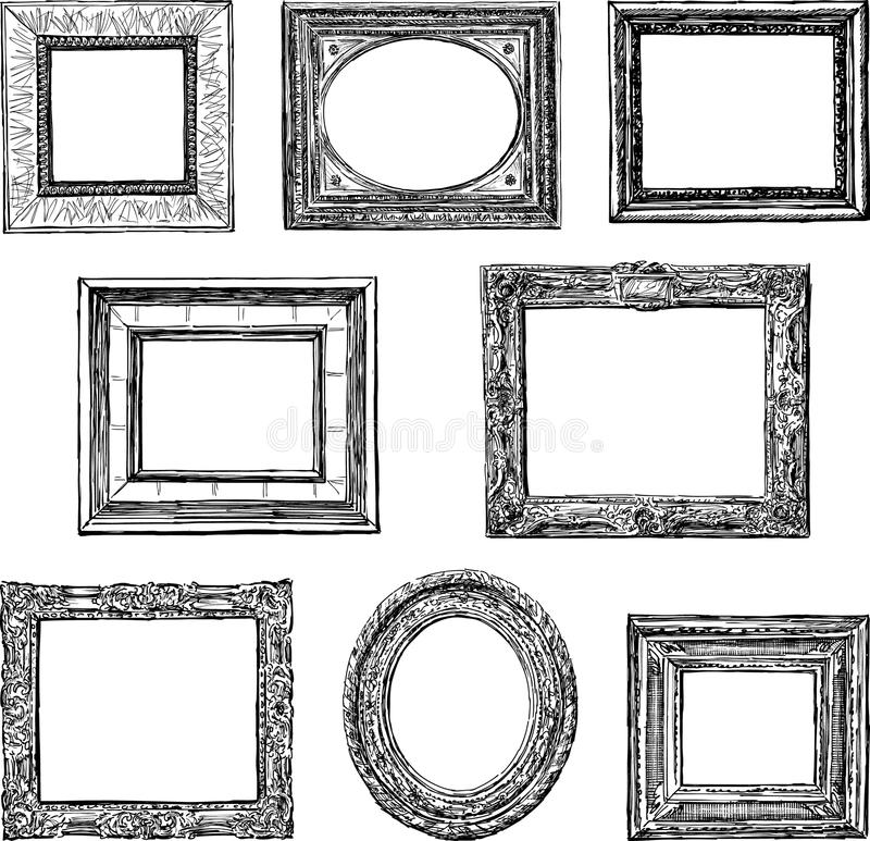 Old decorative frames stock vector. Illustration of doodle - 33763245