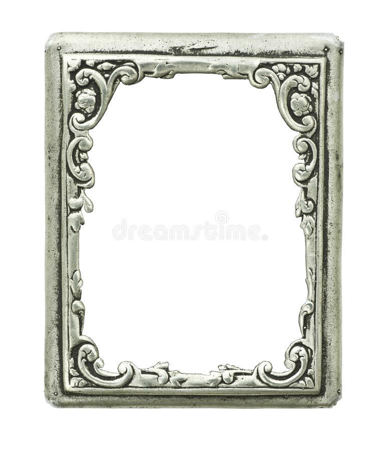 Download Old Decorative Silver Frame Stock Photo - Image: 11022024