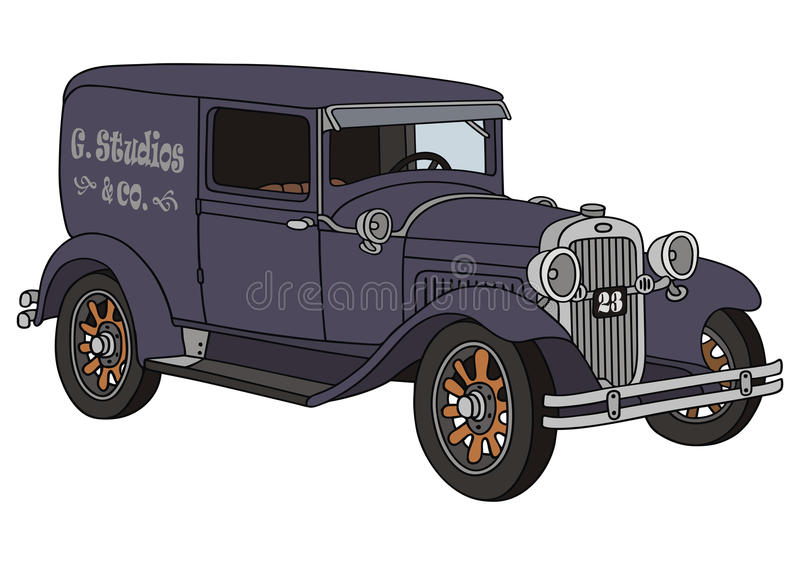 Old Delivery Van Royalty Free Stock Photography